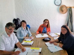 Frau Solbrig beim einwöchigen Sprachkurs an der Escuela Carmen de las Cuevas (2016/2017, Granada/Spanien)