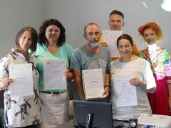 Herr Allnoch und seine Erasmus+-KollegInnen (2019/2020,  Limassol/Zypern)