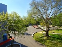 Der Schulhof des Scharnhorstgymnasiums