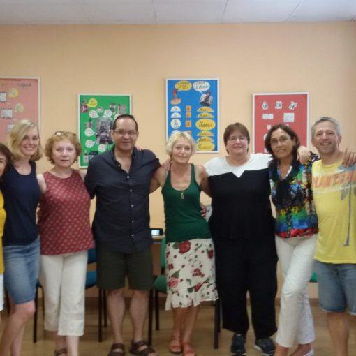 Herr Duelli mit den Teilnehmern seines Kurses in Andalusien, 2019
