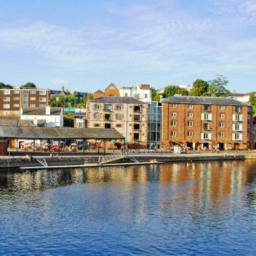 Hafenansicht in Exeter (Foto: Kulturnator, Pixabay)