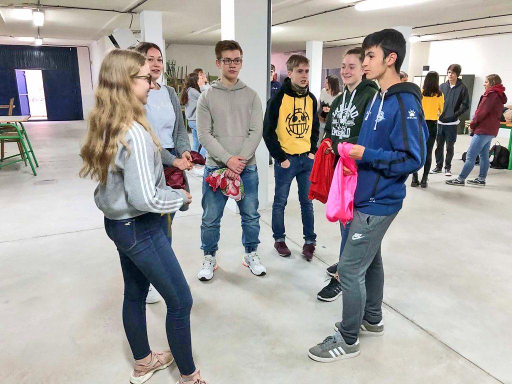 Erstes Kennenlernen der Spanier 2018