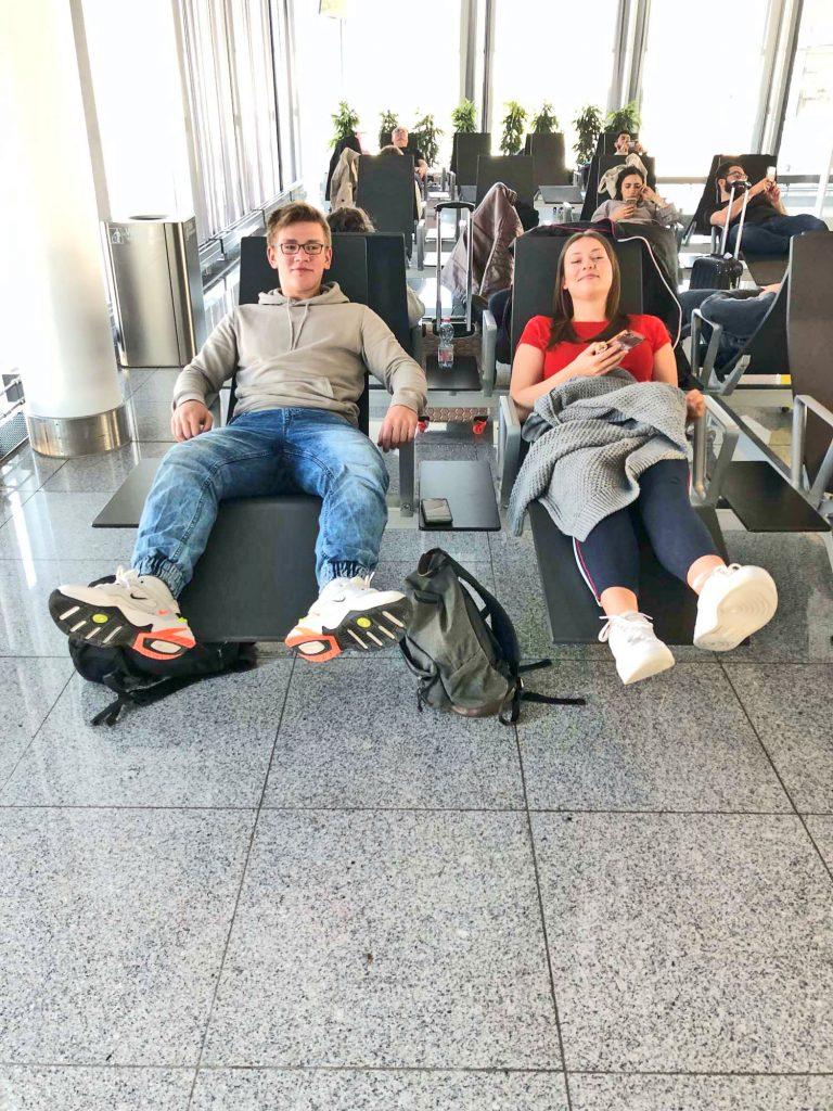 Flughafenimpressionen 2018 auf dem Weg nach Spanien