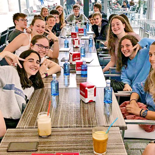 Gemeinsamer Restaurantbesuch in Logroño